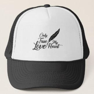 Illustration True Love Feather Trucker Hat