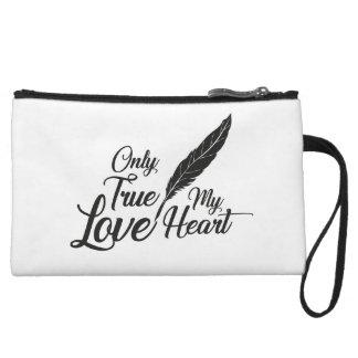 Illustration True Love Feather Wristlet