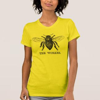 Illustration vintage d'abeille de travailleur tee shirt