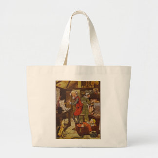 Illustration vintage de comptine sacs de toile