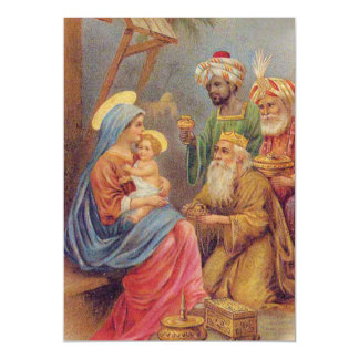 Illustration vintage de Jésus de nativité de Noël