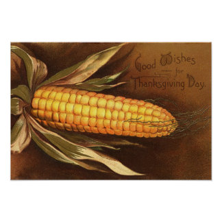 Illustration vintage de thanksgiving