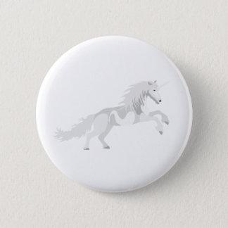Illustration White Unicorn 2 Inch Round Button