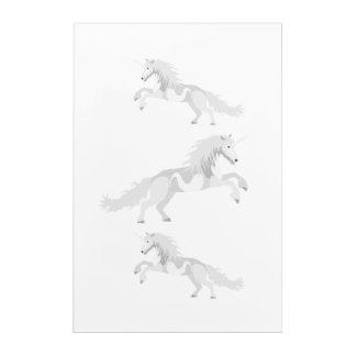 Illustration White Unicorn Acrylic Print