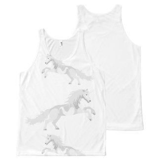 Illustration White Unicorn All-Over-Print Tank Top