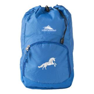 Illustration White Unicorn Backpack