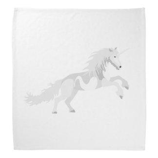 Illustration White Unicorn Bandana