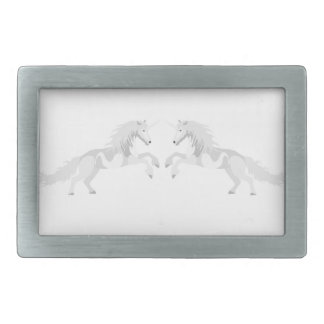 Illustration White Unicorn Belt Buckle