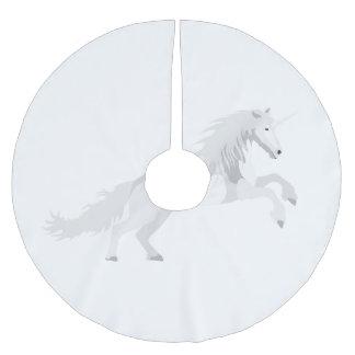 Illustration White Unicorn Brushed Polyester Tree Skirt