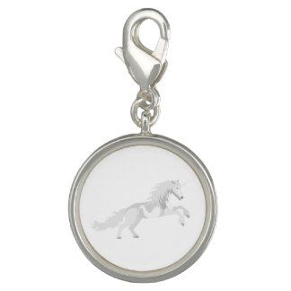 Illustration White Unicorn Charm