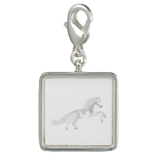 Illustration White Unicorn Charms
