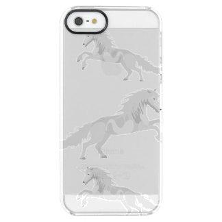 Illustration White Unicorn Clear iPhone SE/5/5s Case