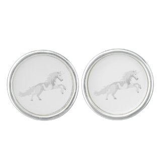 Illustration White Unicorn Cufflinks