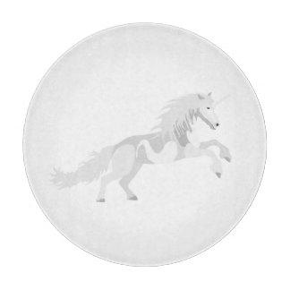 Illustration White Unicorn Cutting Board
