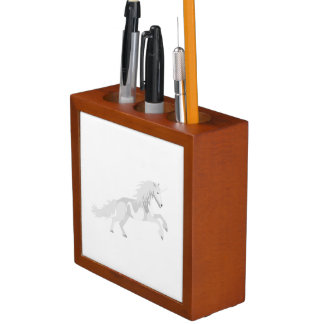 Illustration White Unicorn Desk Organizer