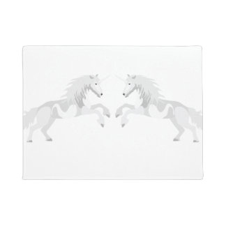 Illustration White Unicorn Doormat