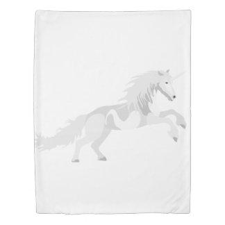 Illustration White Unicorn Duvet Cover