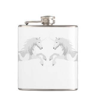 Illustration White Unicorn Flask