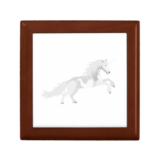 Illustration White Unicorn Gift Box