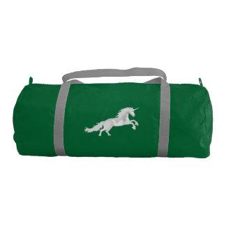 Illustration White Unicorn Gym Bag