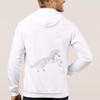 Illustration White Unicorn Hoodie