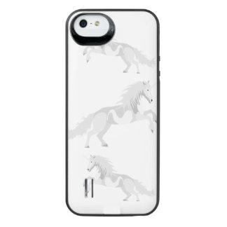 Illustration White Unicorn iPhone SE/5/5s Battery Case
