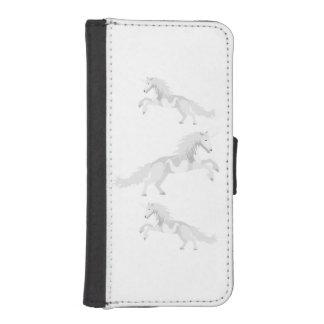 Illustration White Unicorn iPhone SE/5/5s Wallet Case