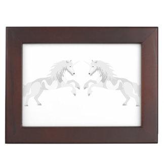 Illustration White Unicorn Keepsake Box