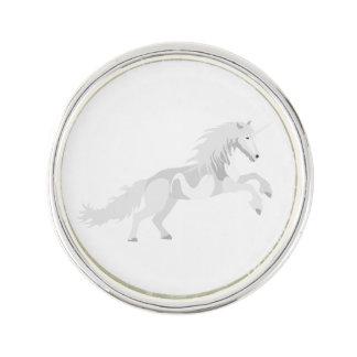 Illustration White Unicorn Lapel Pin