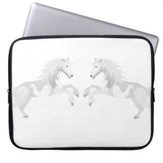 Illustration White Unicorn Laptop Sleeve