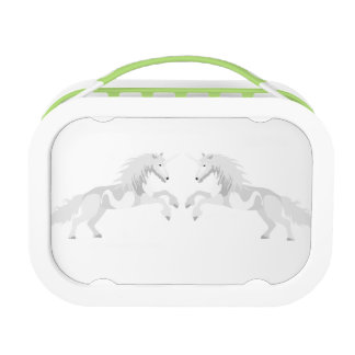 Illustration White Unicorn Lunch Box