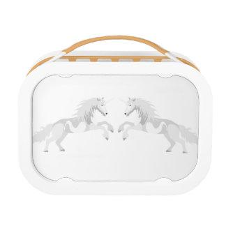 Illustration White Unicorn Lunch Box