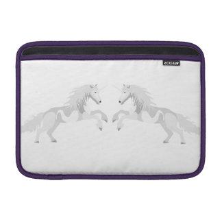 Illustration White Unicorn MacBook Sleeve