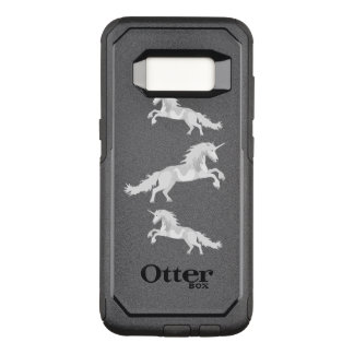Illustration White Unicorn OtterBox Commuter Samsung Galaxy S8 Case