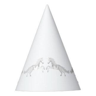 Illustration White Unicorn Party Hat