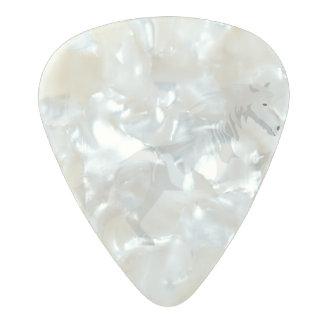 Illustration White Unicorn Pearl Celluloid Guitar Pick