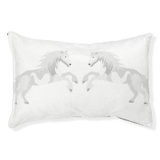 Illustration White Unicorn Pet Bed