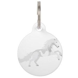 Illustration White Unicorn Pet Name Tag