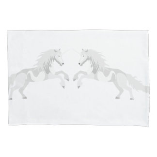 Illustration White Unicorn Pillowcase