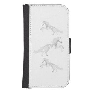 Illustration White Unicorn Samsung S4 Wallet Case