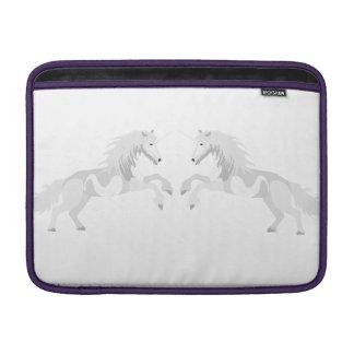 Illustration White Unicorn Sleeve For MacBook Air