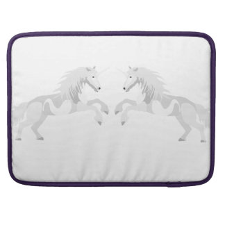 Illustration White Unicorn Sleeve For MacBook Pro