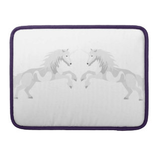 Illustration White Unicorn Sleeve For MacBooks