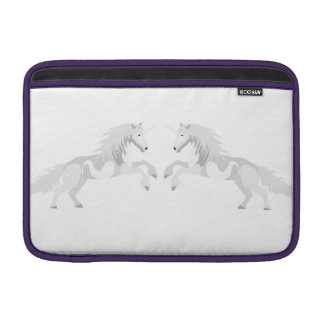 Illustration White Unicorn Sleeves For MacBook Air