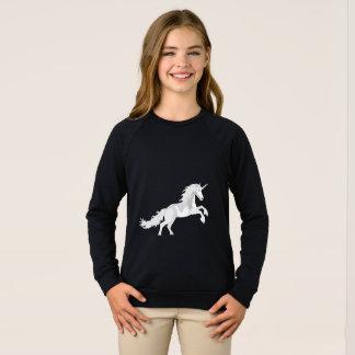 Illustration White Unicorn Sweatshirt
