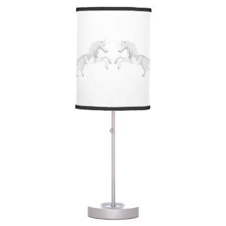 Illustration White Unicorn Table Lamp