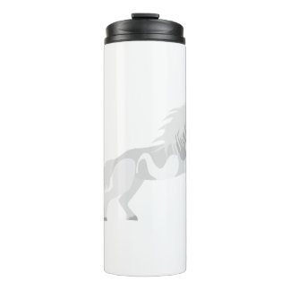 Illustration White Unicorn Thermal Tumbler