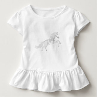 Illustration White Unicorn Toddler T-shirt