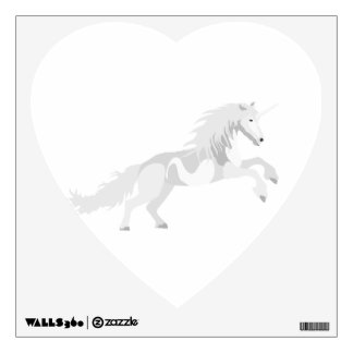 Illustration White Unicorn Wall Decal