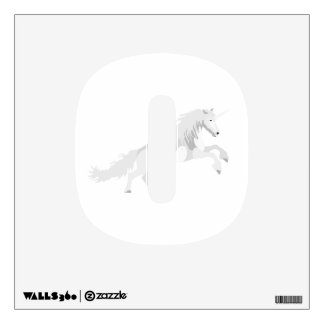Illustration White Unicorn Wall Sticker